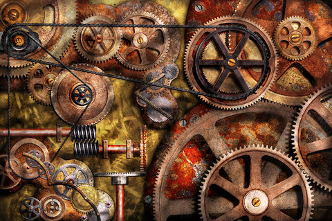 steampunk gear art