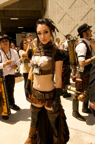 steampunk postapocaliptic cosplay outfit women