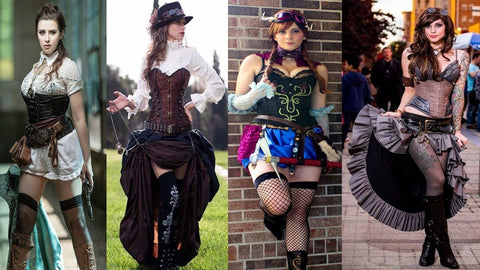 steampunk women fashion outfits