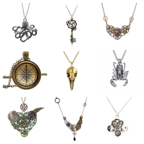 steampunk necklaces product collection