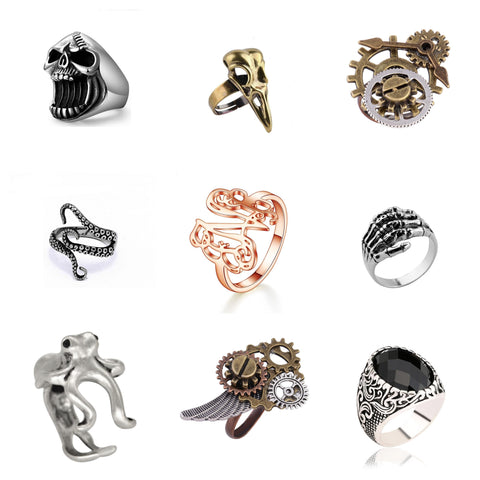 steampunk rings products collection