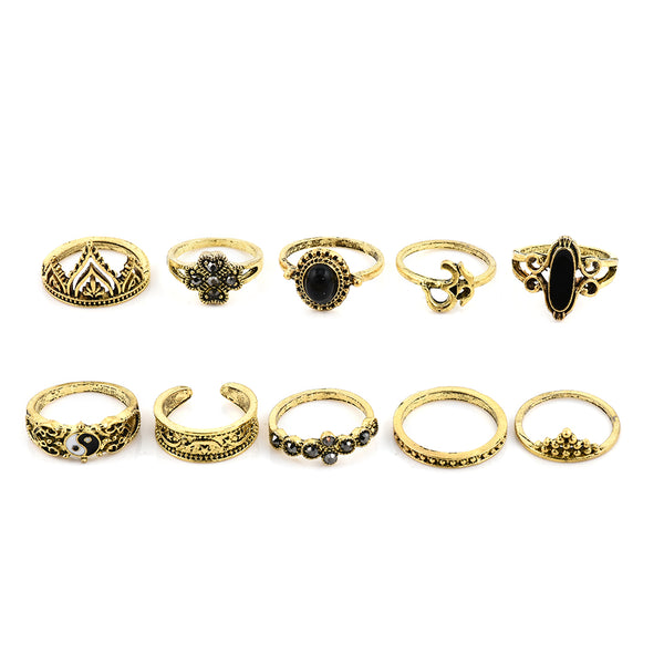 Gothic Rings Set