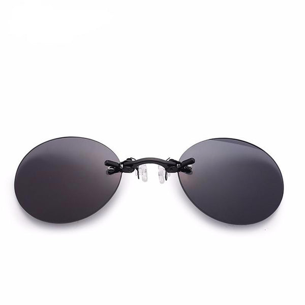 Steampunk Men's Rimless Round Sunglasses