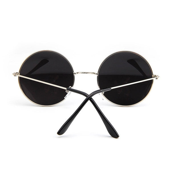 Steampunk Oversized Round Sunglasses