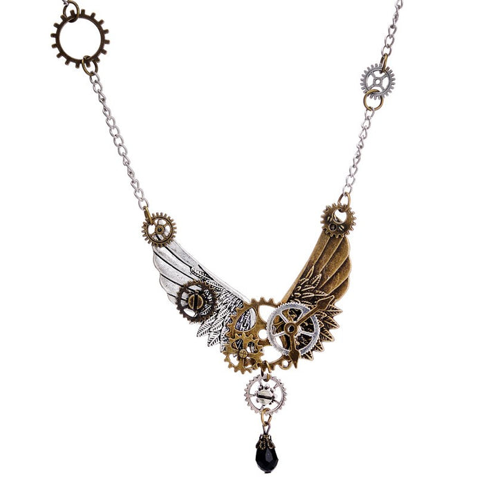 Buy Steampunk Black Crystal Necklace Online