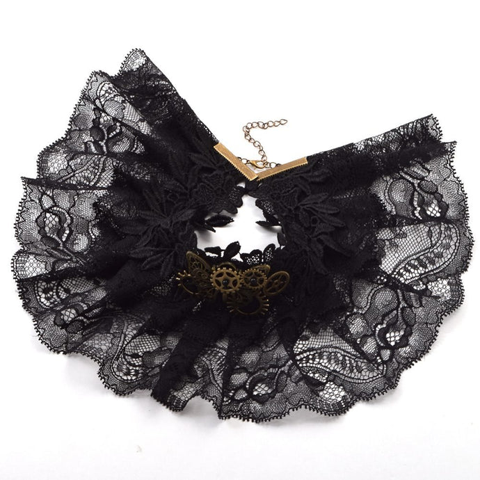 Buy Women's Steampunk Butterfly Lace Collar With Gears Online