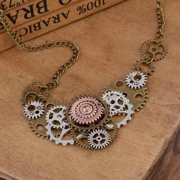 Steampunk Necklace Gears With Gears