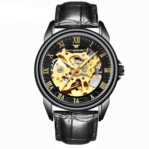 Black Steampunk Wrist Watch