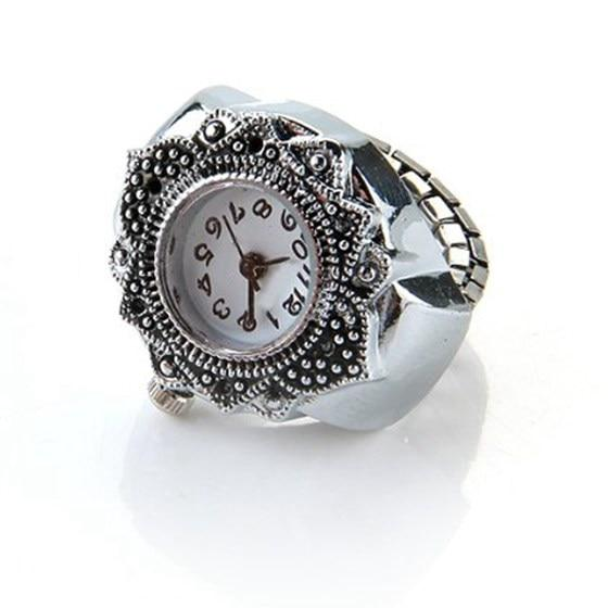 Steampunk Vintage Round Ring Watch