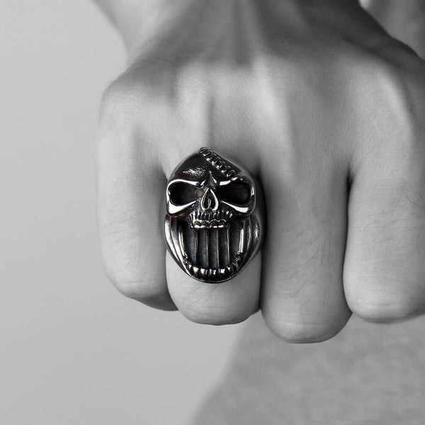 Steampunk Skull Ring / Bottle Opener