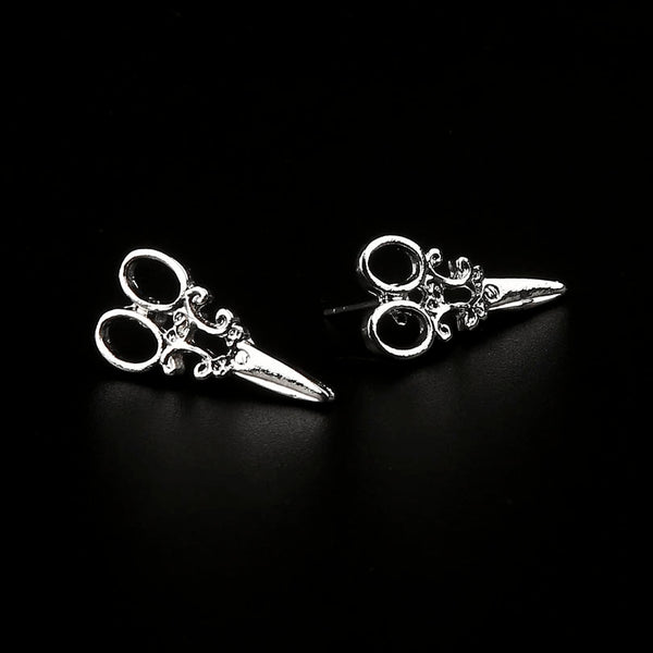 Scissors Steampunk Earrings