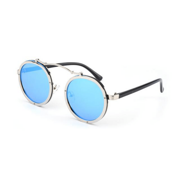 Steampunk Bolt Frame Round Sunglasses