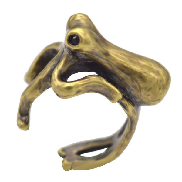 Deep Sea Steampunk Octopus Ring