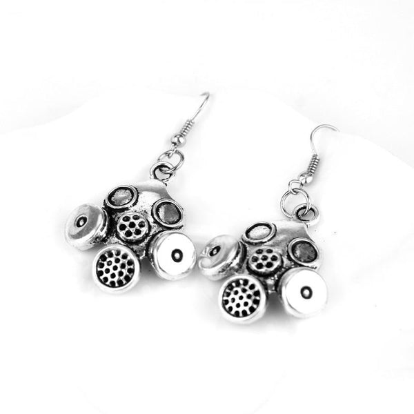 Doctor Who Gas Mask Steampunk Earrings