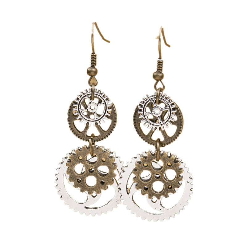Buy Steampunk Earrings with Antique Bronze Gears Online