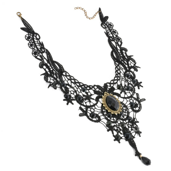 Gothic Black Stone Necklace