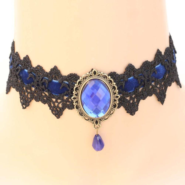 Buy Victorian Pendant Choker Necklace With Crystal Online