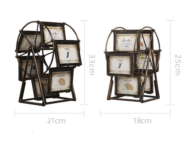 Steampunk Vintage Ferris Wheel with Photo Frames