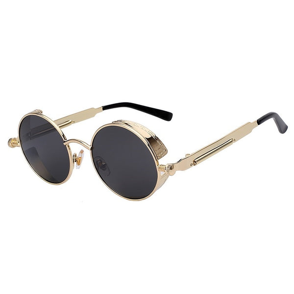 Steampunk Round Sunglasses With Shields