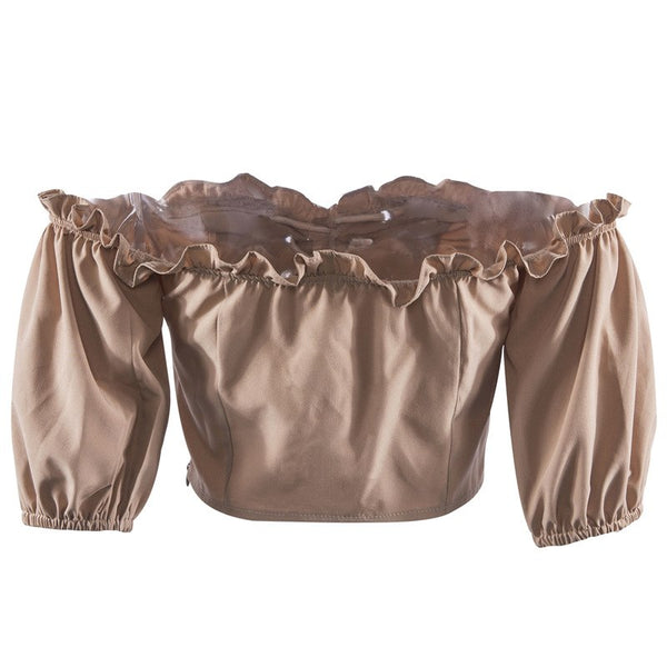 Steampunk Off Shoulder Short Top