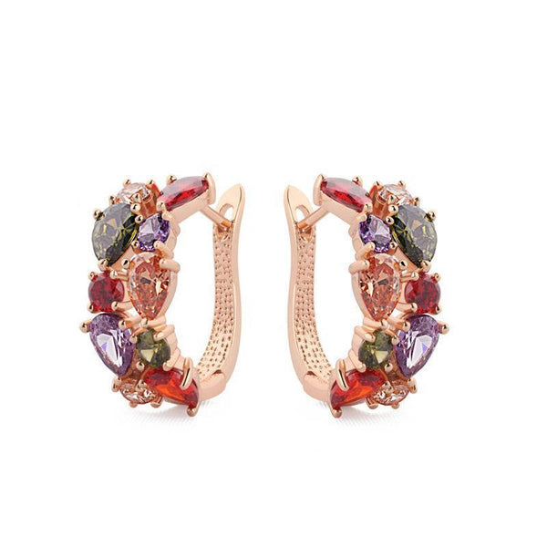 Multicolored Cubic Zirconia Earrings
