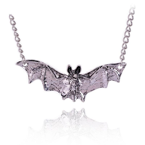Gothic Bat Pendant Necklace