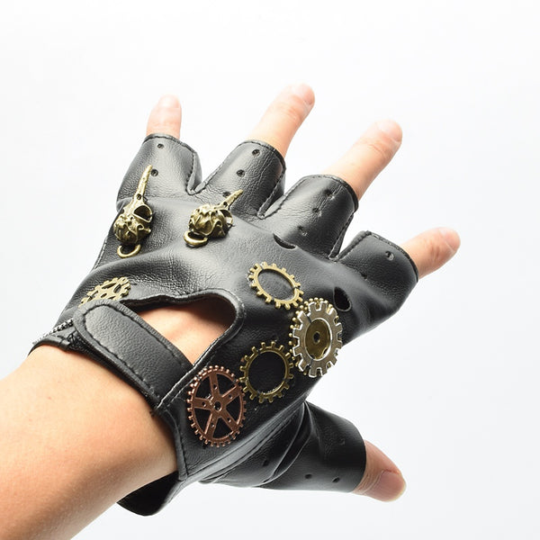 Steampunk Gloves With Gears