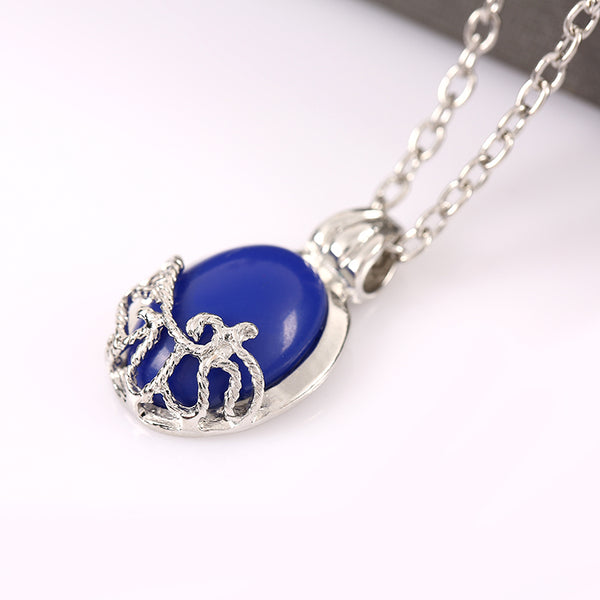 Buy Silver Charm with Blue stone - inspired by Vampire Diaries Online