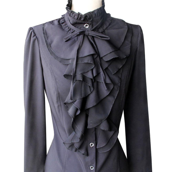 Steampunk Satin Blouse