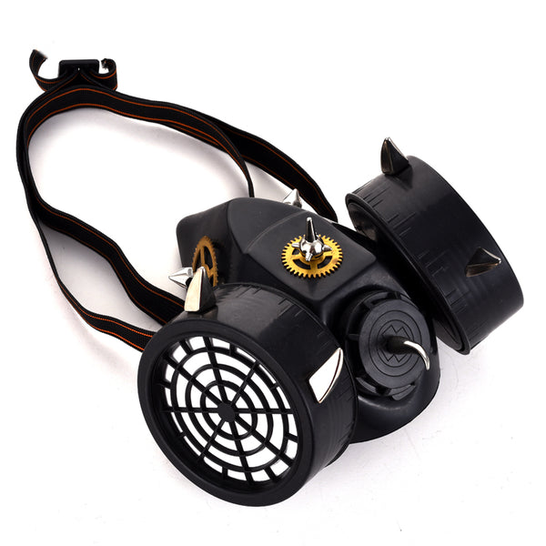 Steampunk Respirator Mask With Spikes