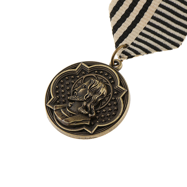 Vintage Steampunk Round Uniform Figure Medal