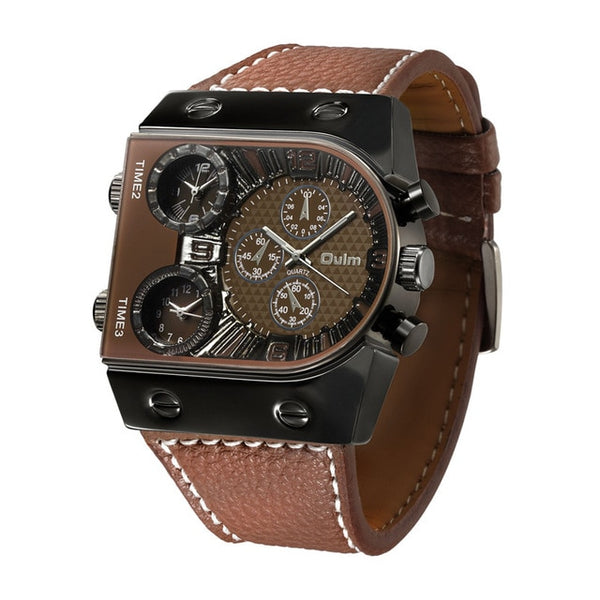Steampunk Casual Leather Wrist Watch