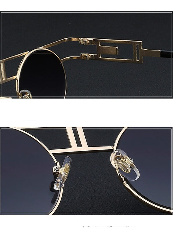 Steampunk Square Frame Sunglasses