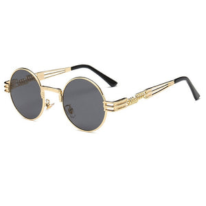 Buy Steampunk Vintage Skeleton Round Sunglasses Online