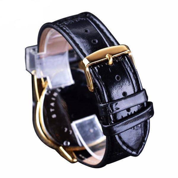 Men Steampunk Golden Triangle Automatic Wrist Watch