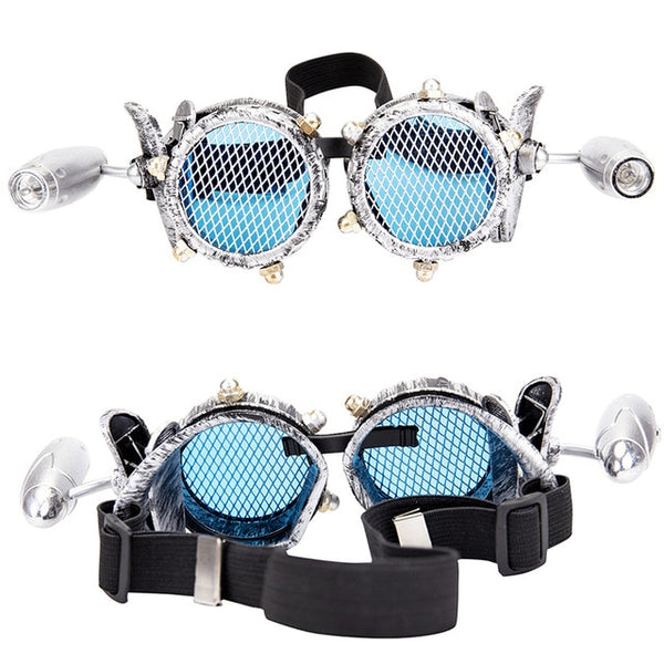 Steampunk Goggles With Lamps