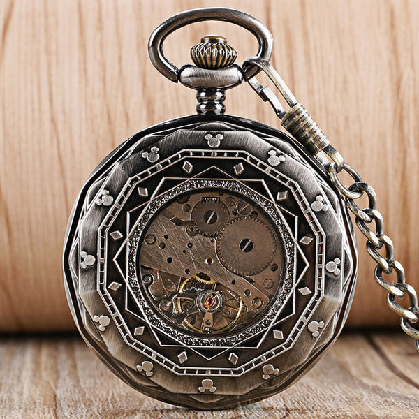 Luxury Skeleton Steampunk Pocket Watch