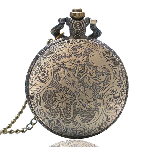 Steampunk Chest & Ribs Skeleton Hollow Pocket Watch