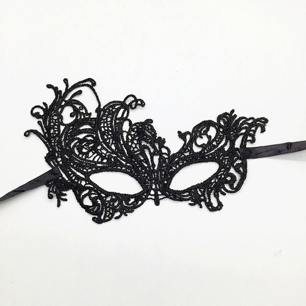 Black Sexy Steampunk Lace Mask