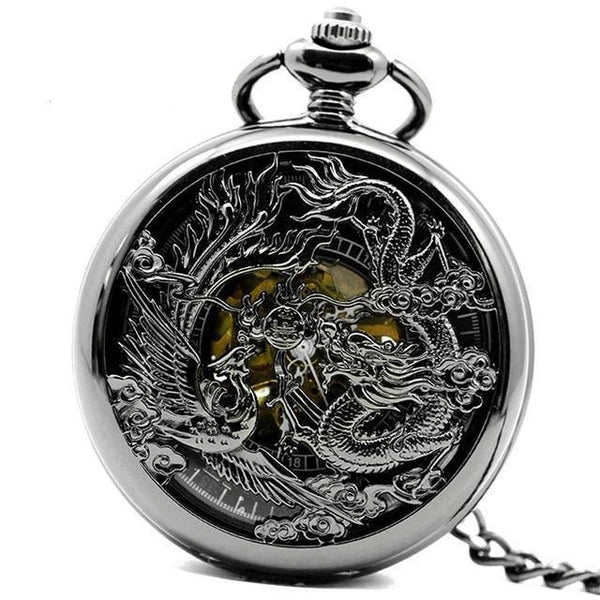NEW Dragon & Phoenix Steampunk Pocket Watch