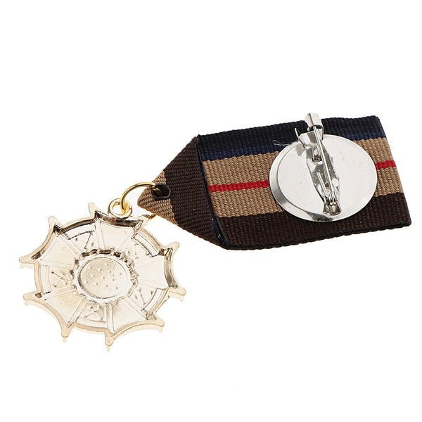 2 Pcs Geometric Military Uniform Star Medal Brooches