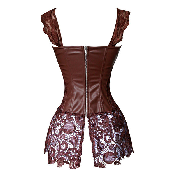 Steampunk Leather Corset Dress