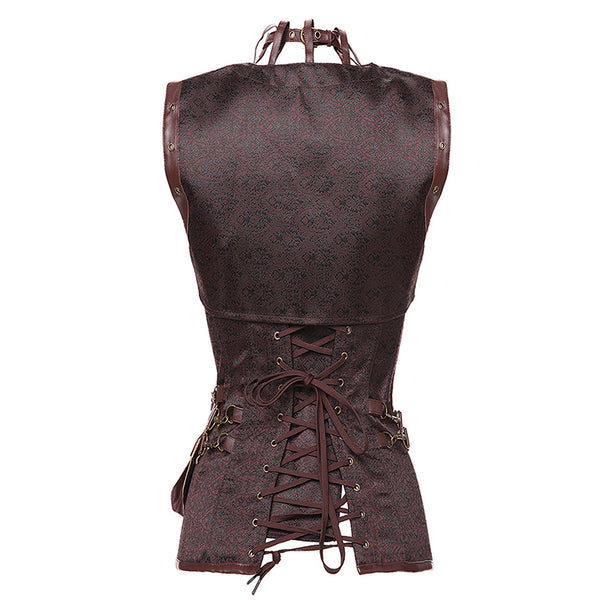 Steampunk Strap Corset With Bag & Vest