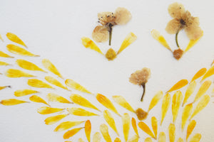 """Gold tree"" FRAMED HANDMADE PRESSED FLOWER ART (A4) - laflorproject"
