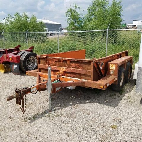 Orange Trailer Tandem Axle