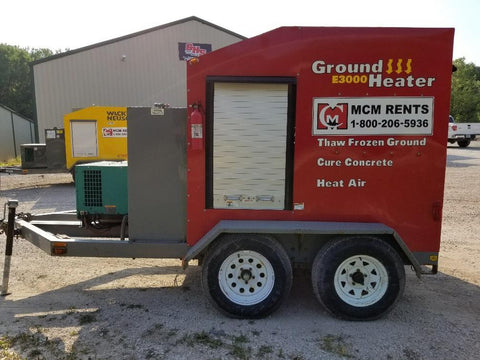GROUND HEATER 2007 E3000 W/GEN TRAILER MOUNTED