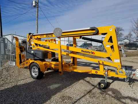 <p>HAULOTTE 2017 4527A TOWABLE BOOMLIFT</p>