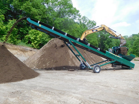Top Soil Stacker Conveyor Rental