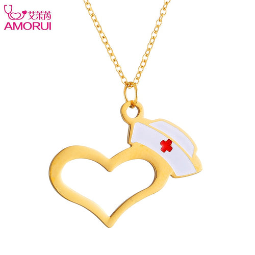 heart charm pendant necklace