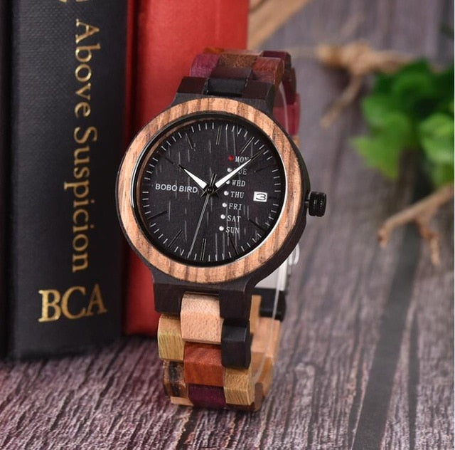 BOBO BIRD Bamboo Wooden Lover Couple Watches